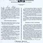 Certificato di aggregazione di Don Luigi Sturzo all'Arciconfraternita (1917)