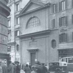 Prospetto esterno della chiesa di S. Maria d'Itria in una fotografia degli anni '30
